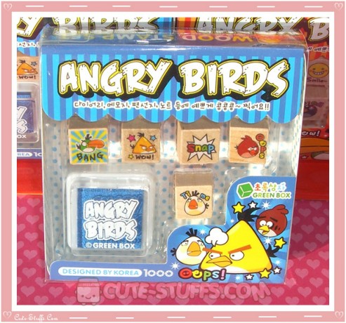 Angry Birds Stamp Set 6pc - Blue