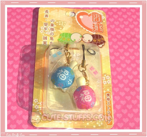 Kawaii Rare Resin Turtles Phone Strap Set! Pink & Blue!