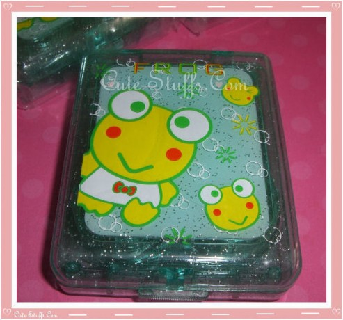 Kawaii Green Keroppi Frog Large Contact Lens Case