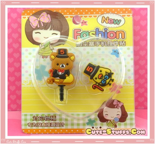Kawaii Ipod Iphone Ipad Dust Plug Set Rilakkuma Hat!