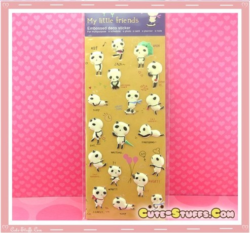 Kawaii Animal Panda Sticker Set! Rare!