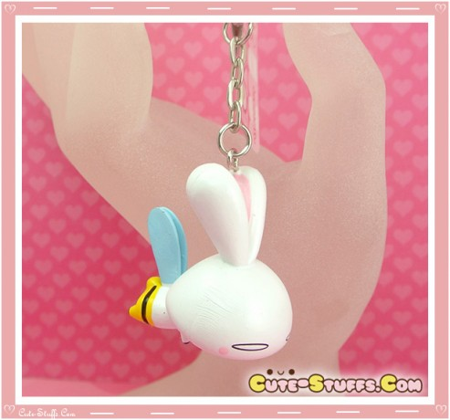 Kawaii Large Love Rabbit Key chain or Backpack Charm! Bumble Bee