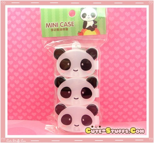Kawaii 3PC Stackable Good Friends Pill or Trinket Box - Panda!