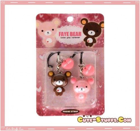 Kawaii Rare Faye Bear Dust Plug Charm Set Duo!