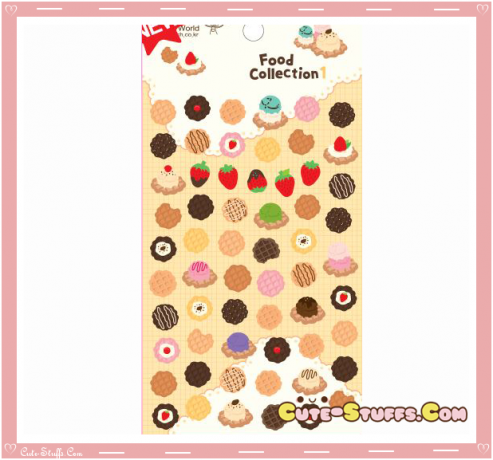Kawaii Transparent Sweets Epoxy Glossy Stickers!