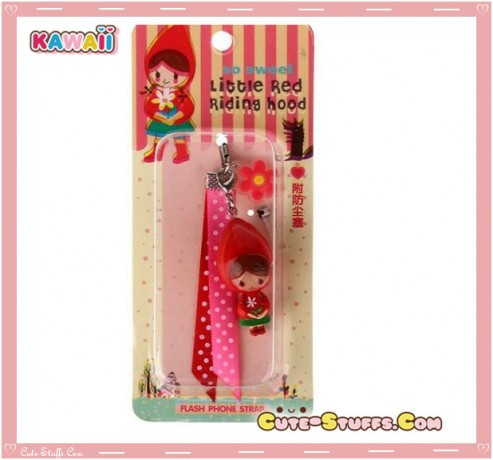 Kawaii RARE Little Red riding Hood Flashing Dust Plug! Discontinued!