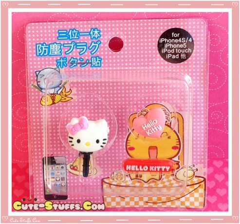 Kawaii Ipod Iphone Ipad Dust Plug Set Data Hello Kitty Pink Heart