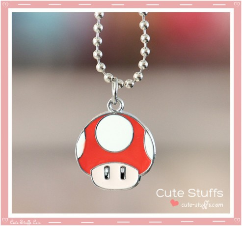 Super Mario Bros Necklace featuring Super Mushroom!