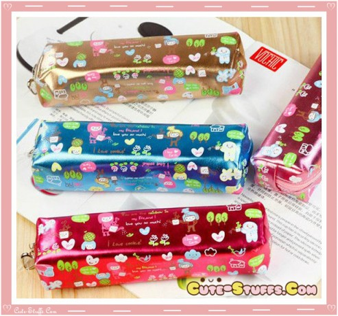 Kawaii Colorful Shiny Pencil Case- U Choose Color!
