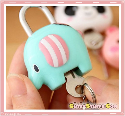 Kawaii Rare Discontinued Medium Lock & Keys - Mouton Elephant!