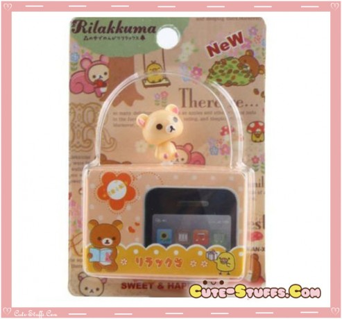 Kawaii Rare Korilakkuma Bobble Head Dust Plug!