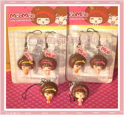 Kawaii Rare MocMoc Phone Strap Dust Plug Set!