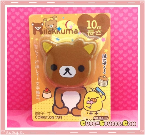 Rare Kawaii Jumbo Rilakkuma Correction Tape - Head Shaped