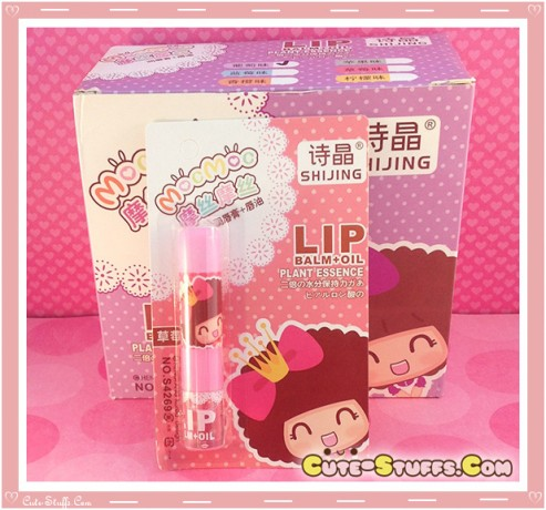 Kawaii MocMoc Lip Balm + Oil! Pink