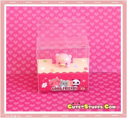 Kawaii Rare Good Friends Pig Hanging Series Dust Plug