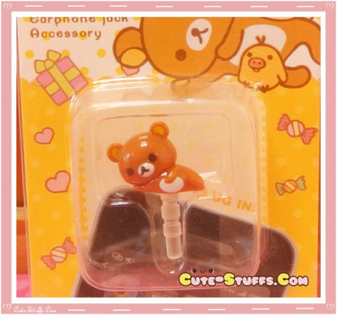 Kawaii 3.5mm Mini Rilakkuma Dust Plug
