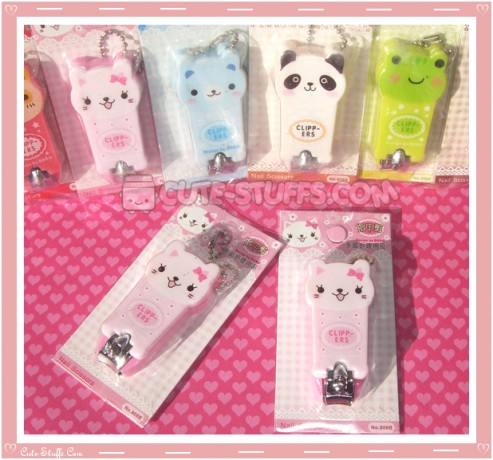 Kawaii Pink Kitty Cat Nail Clippers