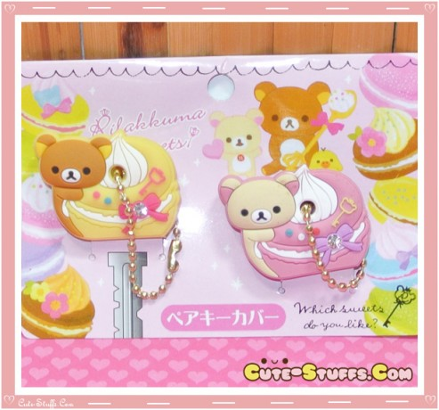 Kawaii Rilakkuma w/ Korilakkuma Key Cover Set Duo! Cake