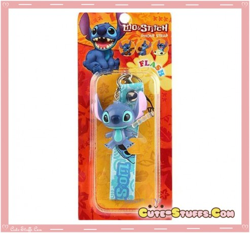 Kawaii Lilo & Stitch Rare Flashing Phone Charm w/ Plug & Wrist Strap!