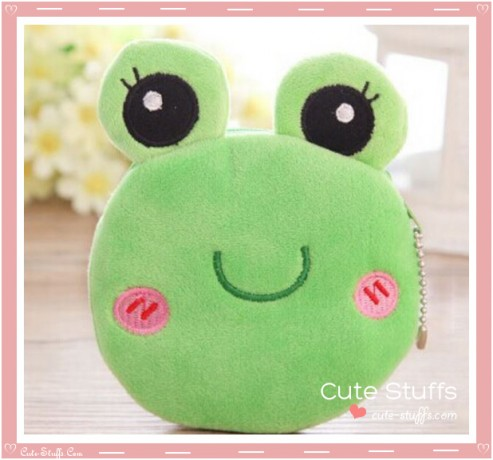 Kawaii Unique Plush Frog Purse Keychain!