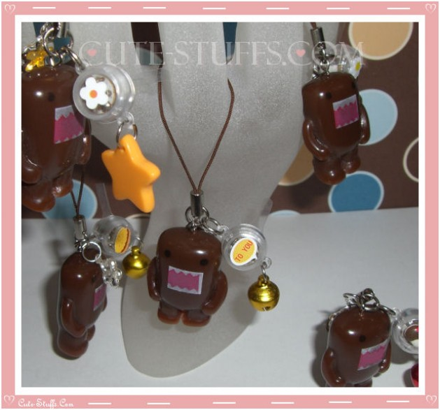 Kawaii Rare Flashing Domo Kun Phone Charm! Shiny!