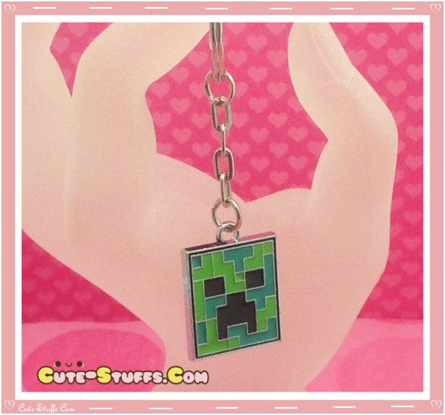 Kawaii Unique Minecraft Creeper Keychain  - Enamel