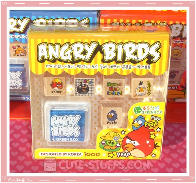 Angry Birds Stamp Set 6pc - Yellow