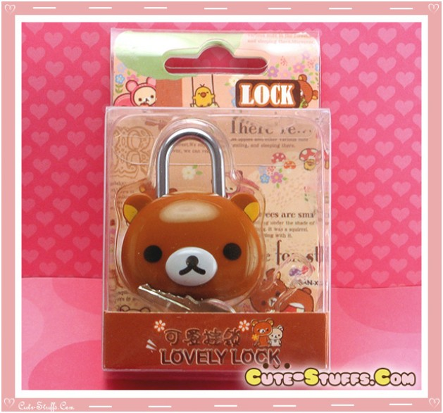 Kawaii Rare Discontinued Medium Lock & Keys - Rilakkuma!