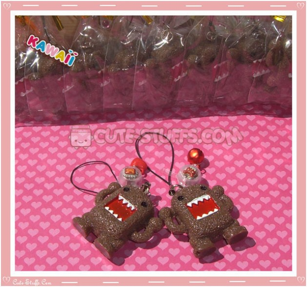 Kawaii Rare Flashing Domo Kun Phone Charm! Square!