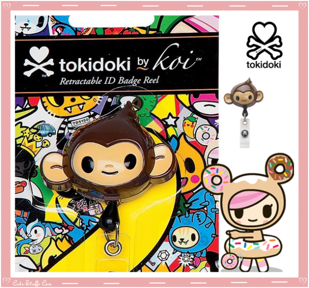 Kawaii Rare Koi Tokidoki Retractable ID Badge Reel! Monkey!