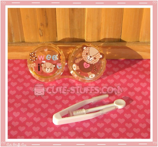 Kawaii Brown Bear Single Contact Lens Case