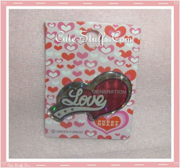 Cute Love Generation Pin Badge