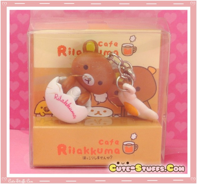 Kawaii Rare Rilakkuma Egg Dust Plug Charm! So Cute