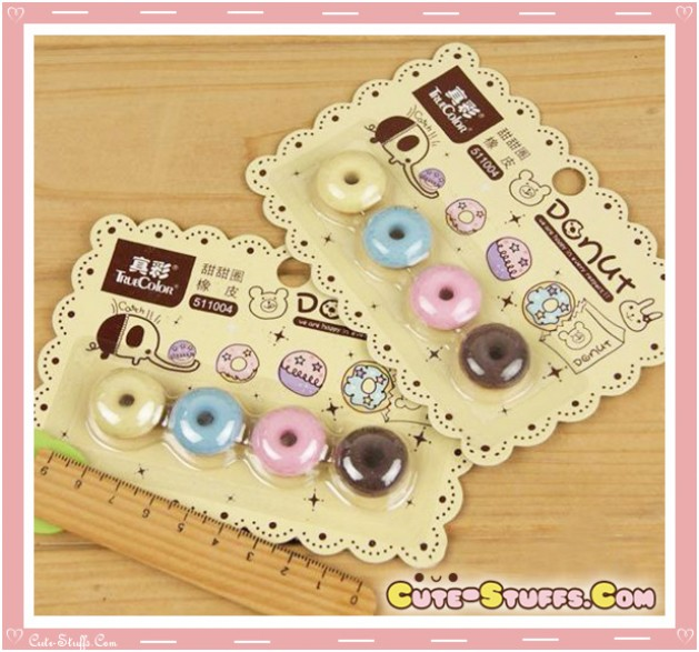 Kawaii Rare Donut Eraser Set! So Cute!