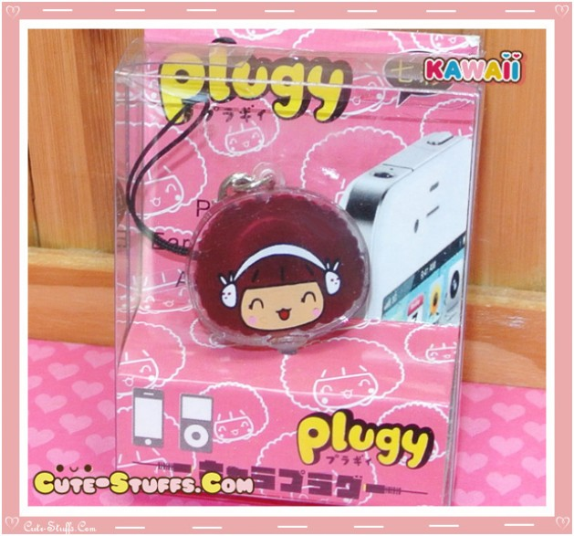 Kawaii Rare Flashing Transparent Head Dust Plug! MocMoc Earmuffs