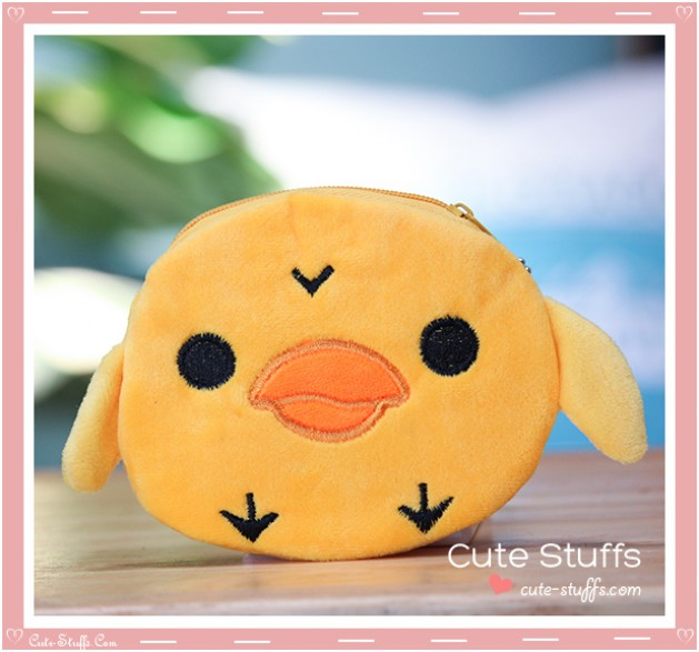 Kawaii Unique San-x Plush Kiiroitori Purse Keychain!