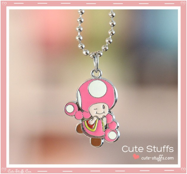 Super Mario Bros Necklace featuring Toadette!
