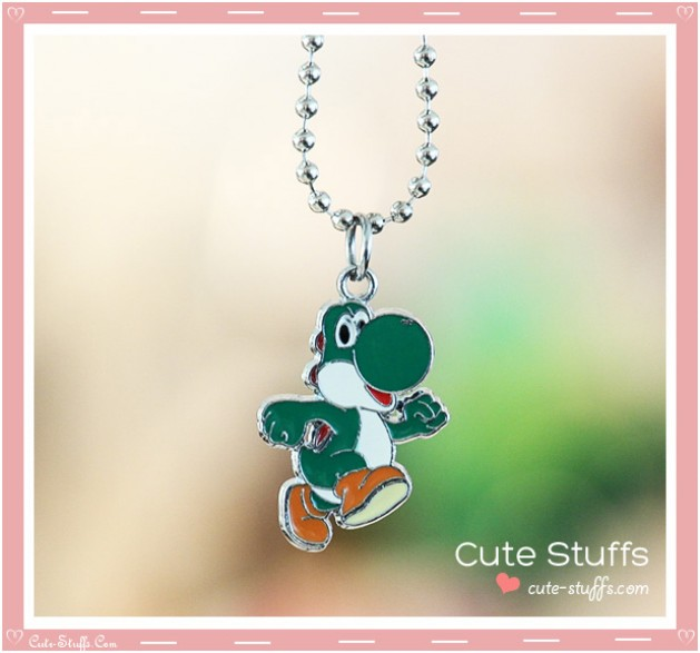 Super Mario Bros Necklace featuring Yoshi!