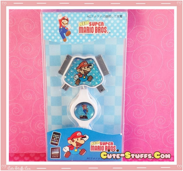 Kawaii 4 in 1 Universal Mobile Phone USB Flashing Data Cable! Mario