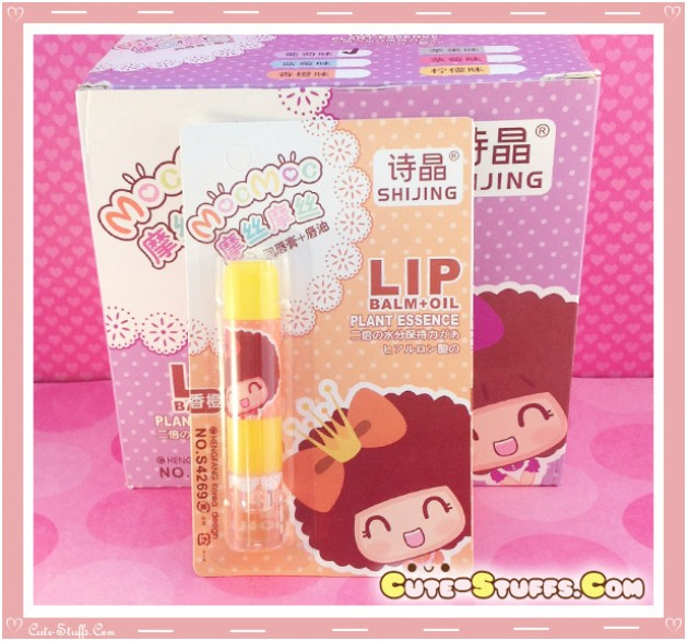 Kawaii MocMoc Lip Balm + Oil! Yellow