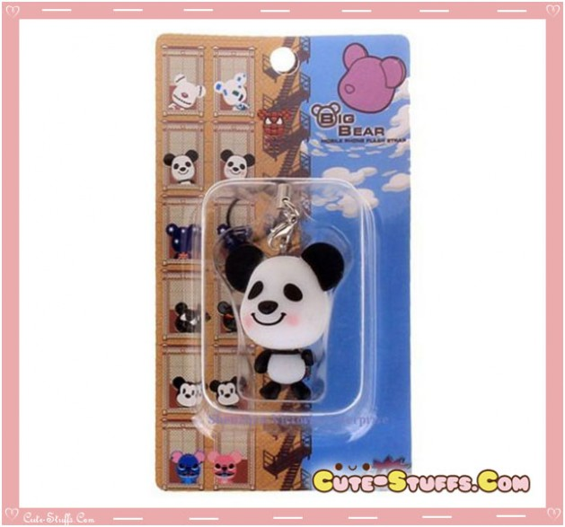 Kawaii Rare Flashing Gloomy Panda Phone Charm! Cute!