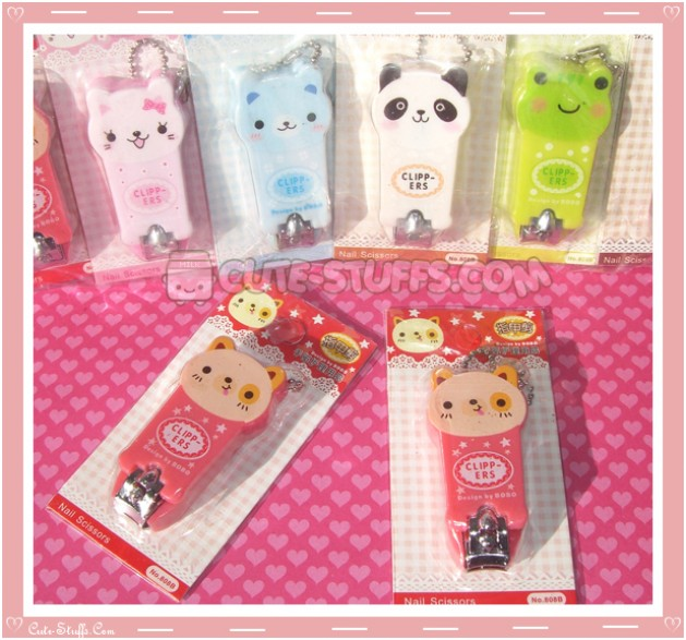 Kawaii Pink & Red Puppy Dog Nail Clippers