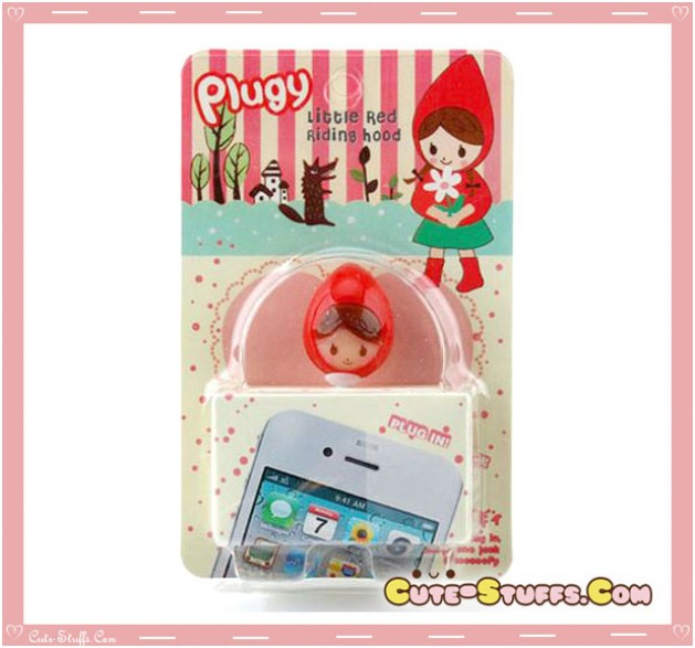 Kawaii RARE Little Red riding Hood Head Flashing Dust Plug! Discontinued!