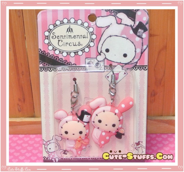 Kawaii Rare Shappo Bunny Phone Strap Set! Sentimental circus