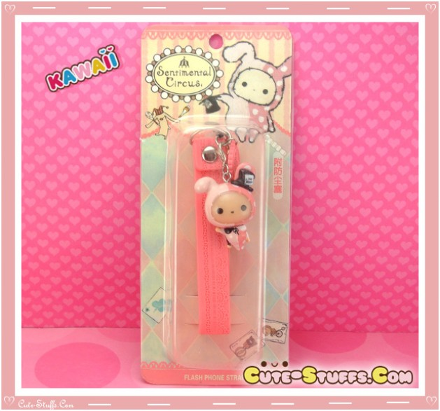 Kawaii RARE Sentimental Circus Shappo Rabbit Flashing Dust Plug! Discontinued!