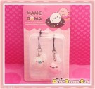 Kawaii Rare Mamegoma Donut Series Seal Phone Strap Set w/ Plug!