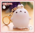 Kawaii Molang Soft Rubber Gold Plated Keychain - Original