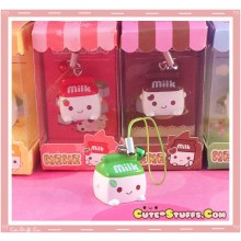 Kawaii Milk Phone Strap! Extremely Rare! Spearmint!