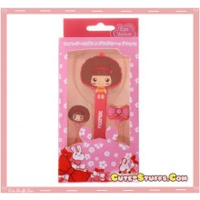 Kawaii MOCMOC In-Ear Headset Headphones + Mic + Cord Winder Set! Red!