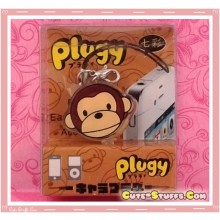 Kawaii Rare Flashing Transparent Head Dust Plug! Monkey